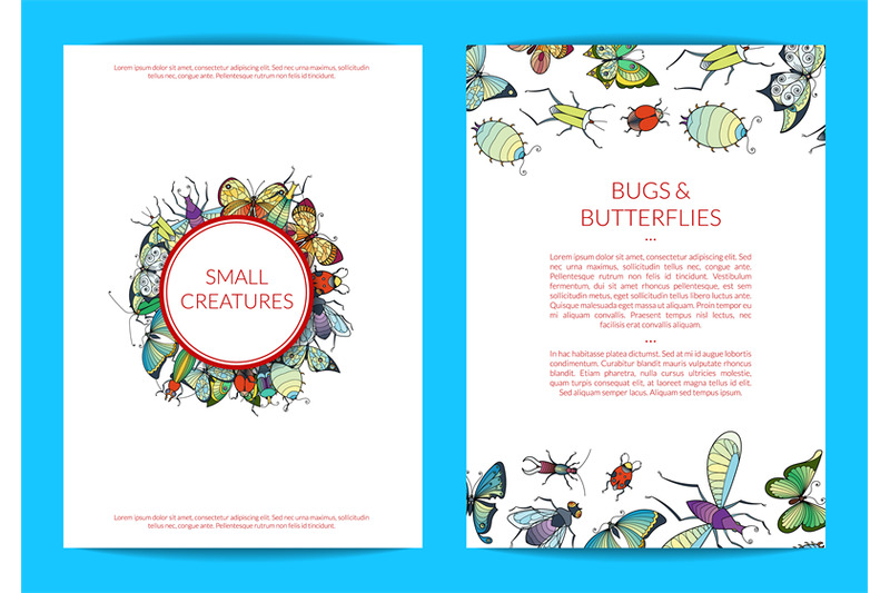 vector-hand-drawn-insects-card-of-set