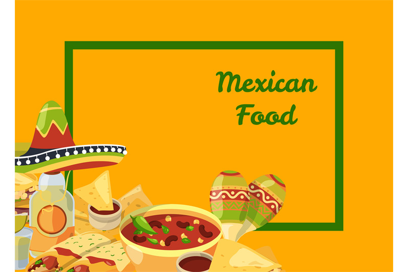 vector-cartoon-mexican-food-background-with-place-for-text-illustratio