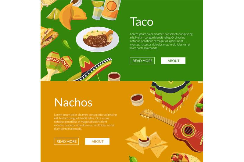 vector-cartoon-mexican-food-web-banner-illustration