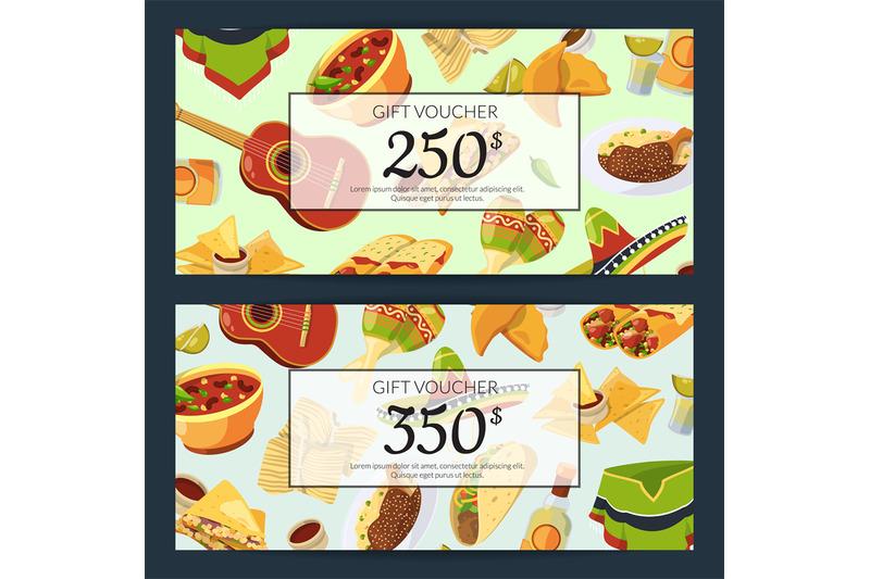 vector-cartoon-mexican-food-discount-or-gift-voucher-templates-illustr