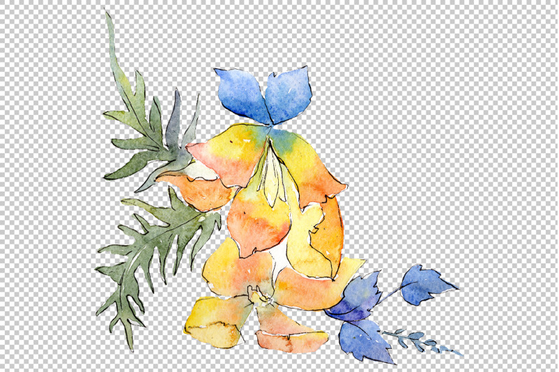 bouquet-chainmail-of-love-watercolor-png