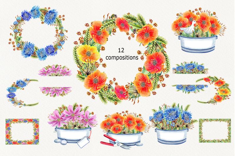 watercolr-wildflowers-clip-art