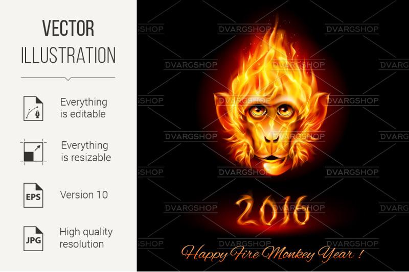 fire-monkey-head