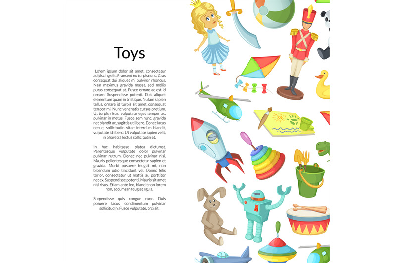 vector-cartoon-children-toys-place-for-text