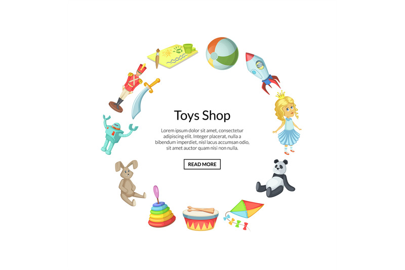 vector-cartoon-children-toys-in-circle-shape-with-place-for-text-illus