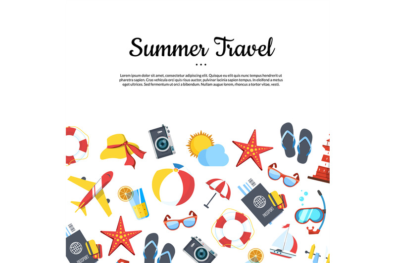 vector-travel-elements-background-with-place-for-text-illustration