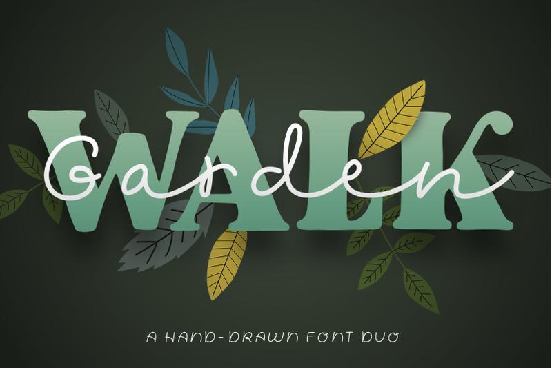 garden-walk-font-duo