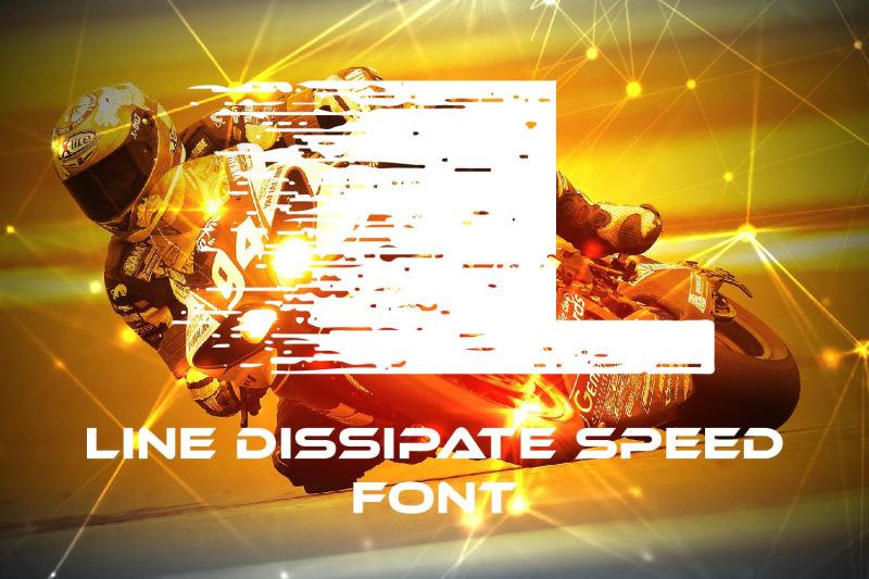 line-dissipate-speed-font