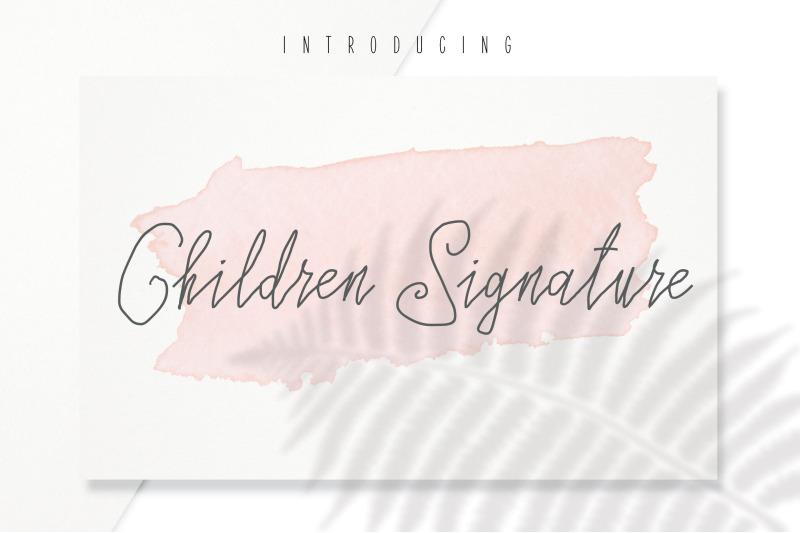 children-signature