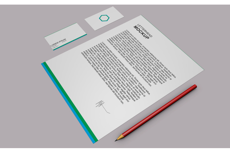 Free Letterhead and Visiting Card Mockup (PSD Mockups)