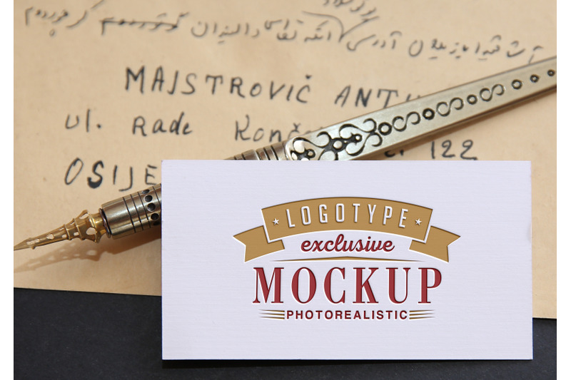 Free Photo Realistic Mock-ups on handwritten vintage letter (PSD Mockups)