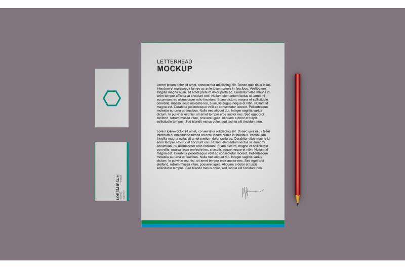 Free Letter / Visiting Card Mockup (PSD Mockups)