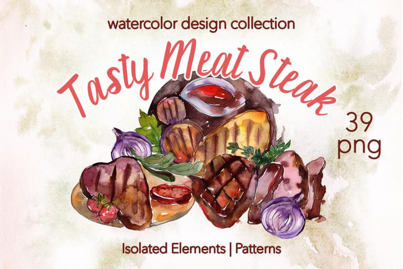 tasty-meat-steak-watercolor-png