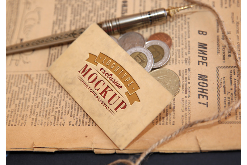 photorealistic-mock-ups-with-old-newspaper-with-coins-on-background