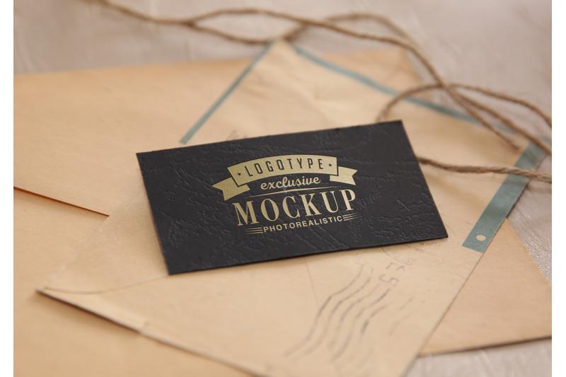 Download Photo Realistic Mock-ups Vintage style on old envelopes background Free Mockups