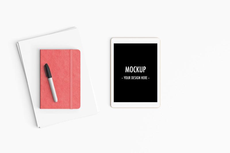 modern-workspace-mockup-top-view