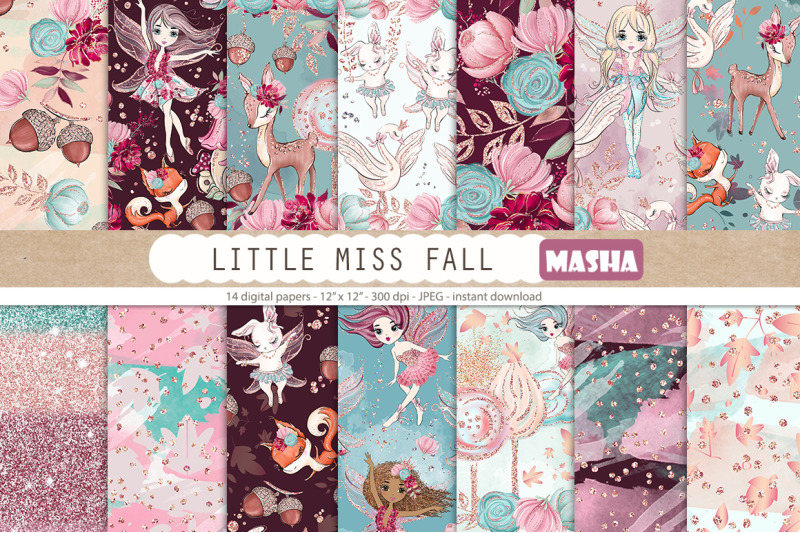 little-miss-fall-digital-papers