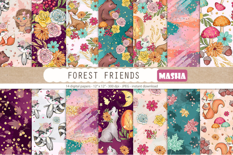 forest-friendsdigital-papers