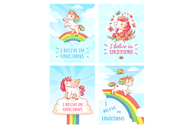greeting-card-writing-design-for-girl-with-slogan-i-believe-in-unicorn