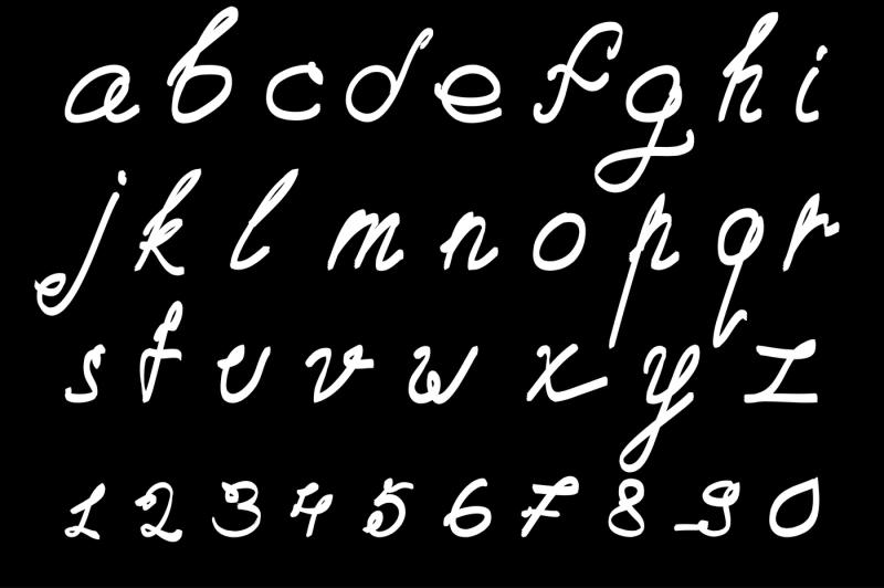 calligraphic-vector-font-handdrawn