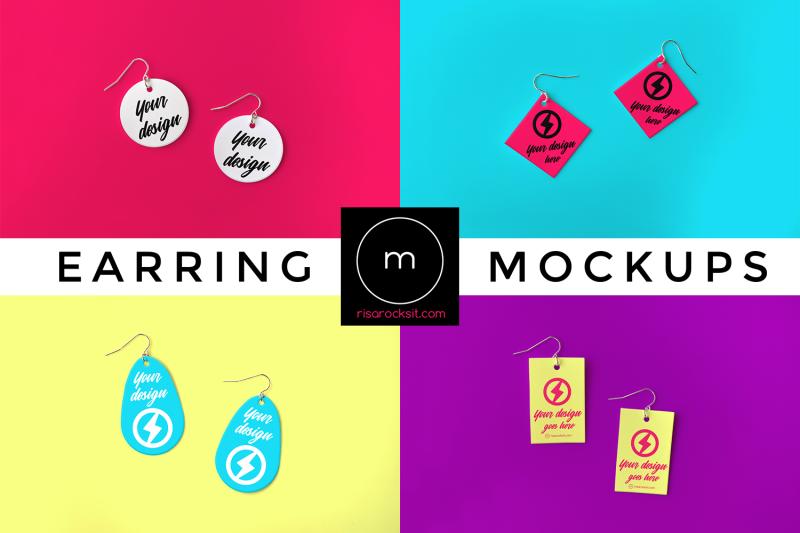 Free Earring Set   Mock Up (PSD Mockups)