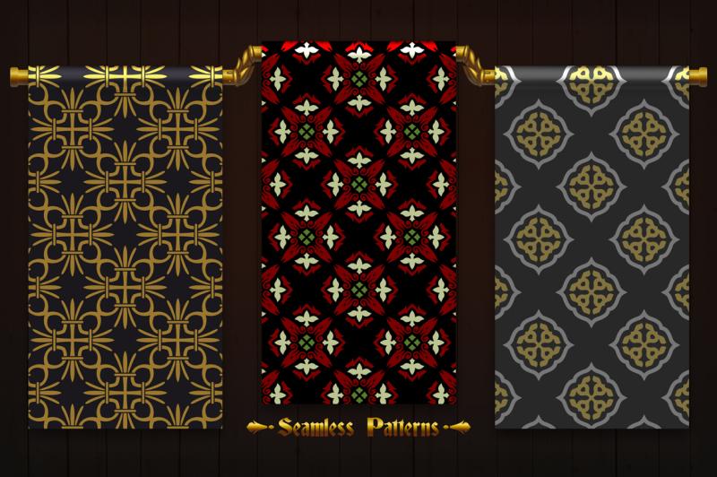 123-vintage-seamless-vector-patterns