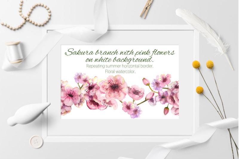 sakura-branch-seamless-background