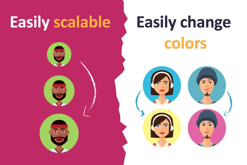 vector-avatars-cartoon-people-friends-set