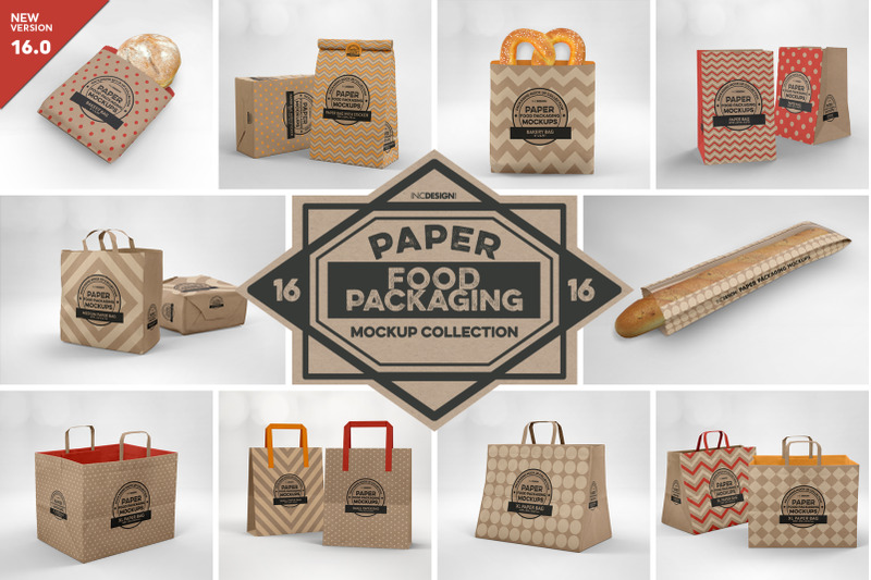 Free VOL.16 Food Box Packaging Mockups (PSD Mockups)