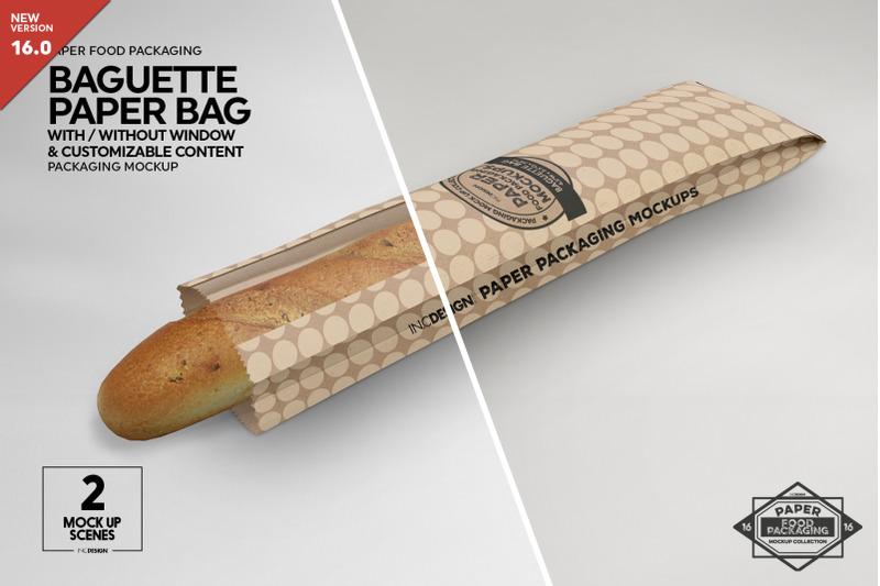 Free Long Paper Window Bags Mockup (PSD Mockups)