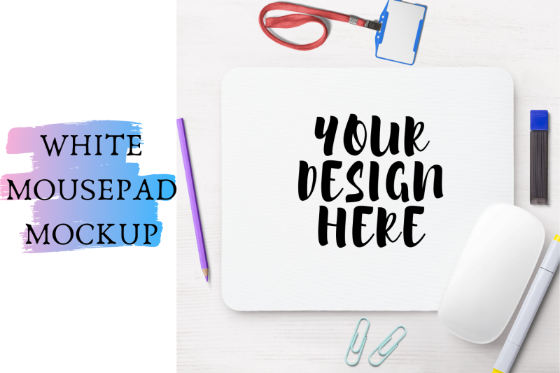 Free White Mouse-pad Mock Up|4042x3982px (PSD Mockups)