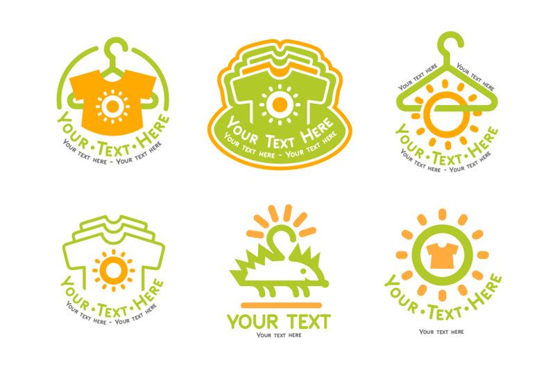 kids-cloth-logo-set