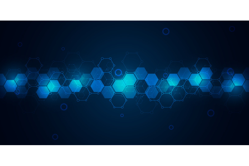 abstract-molecules-on-dark-blue-background-molecular-structures-or-ch