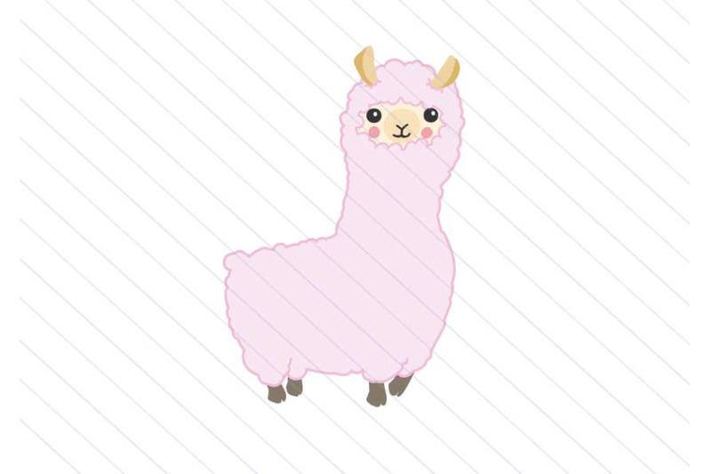 llama-svg-vector-clipart-alpaca-kawaii-svg-cut-file