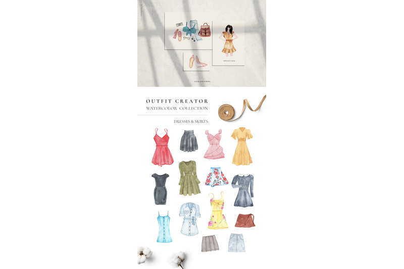 outfit-creator-watercolor-fashion-clothes-set