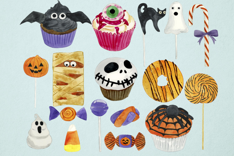 watercolor-halloween-candy-clipart-halloween-sweets-clipart-trick-or