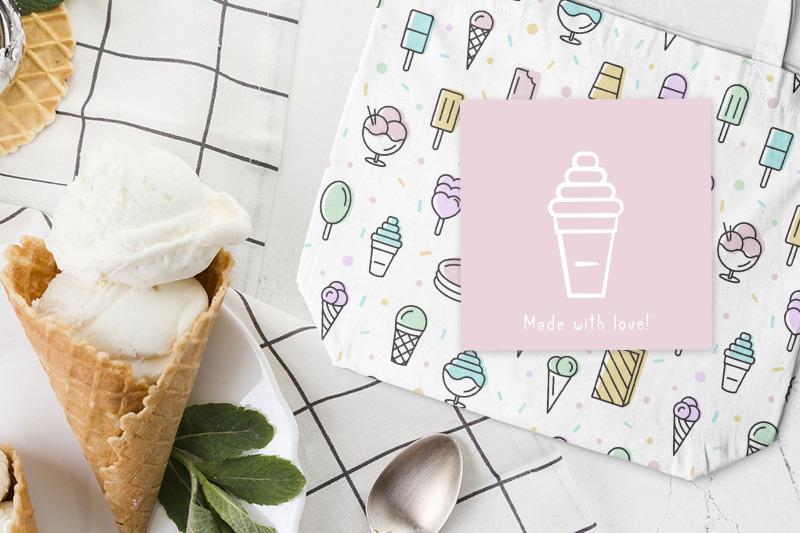 brush-font-and-ice-cream-pack