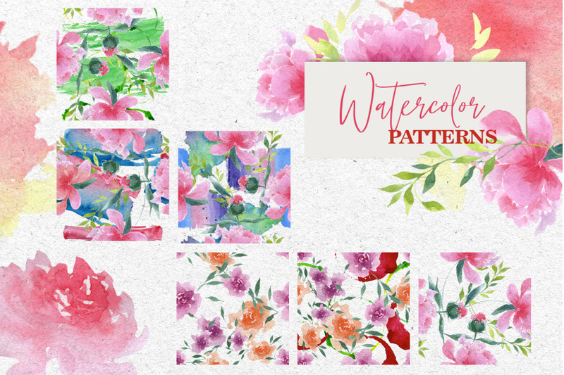 watercolor-pink-peonies-png-collection