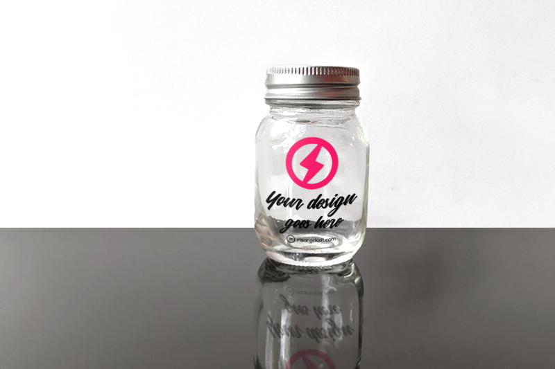Free Glass Canning Jar | Mock Up (PSD Mockups)