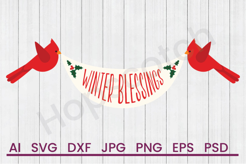 winter-blessings-svg-file-dxf-file
