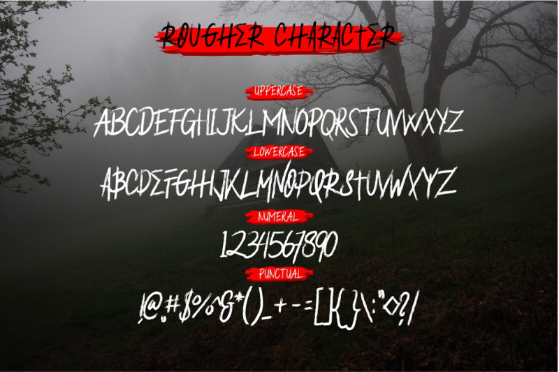 rougher-brush-font