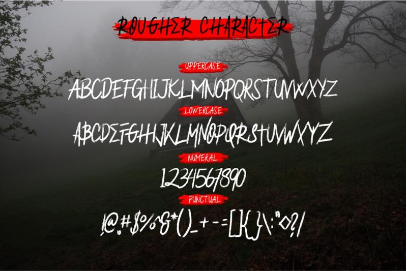 rougher-brush-font