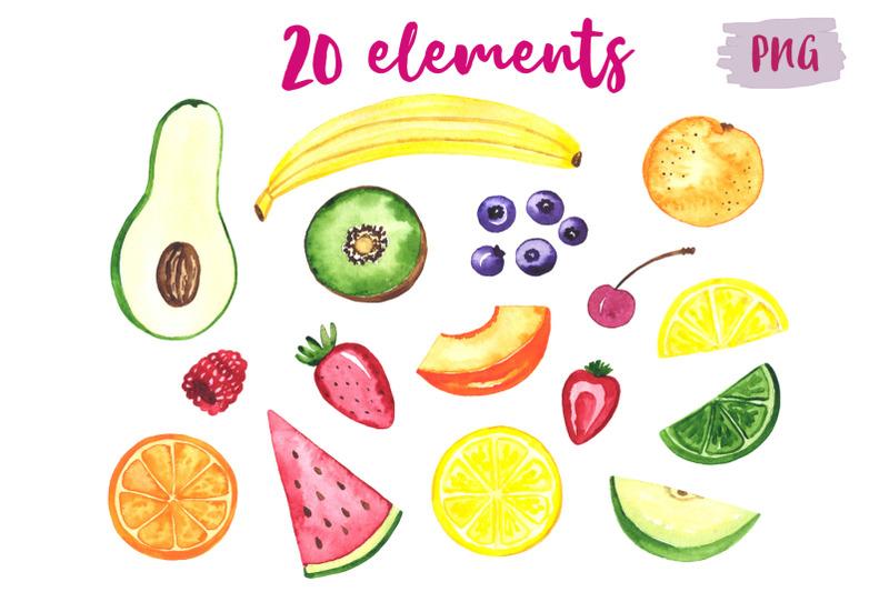 fruits-watercolor-set-clipart
