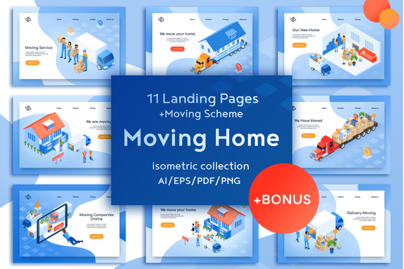 moving-home-isometric-design
