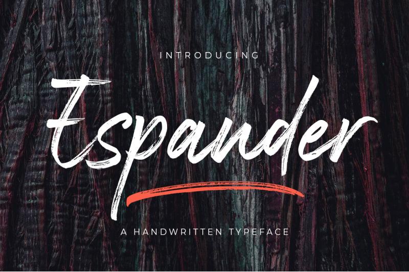 espander-handwritten-typeface