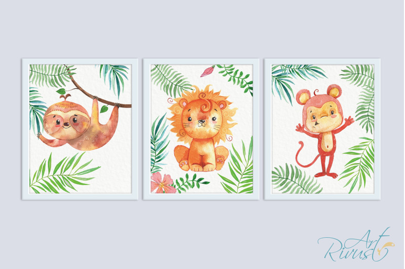printable-nursery-art-safari-animals-cute-african-wild-animal-wall