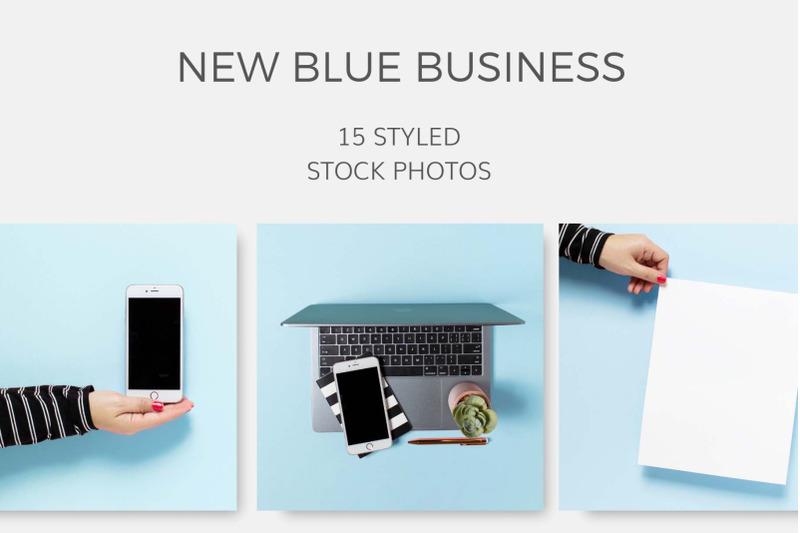 Free New Blue Business (PSD Mockups)