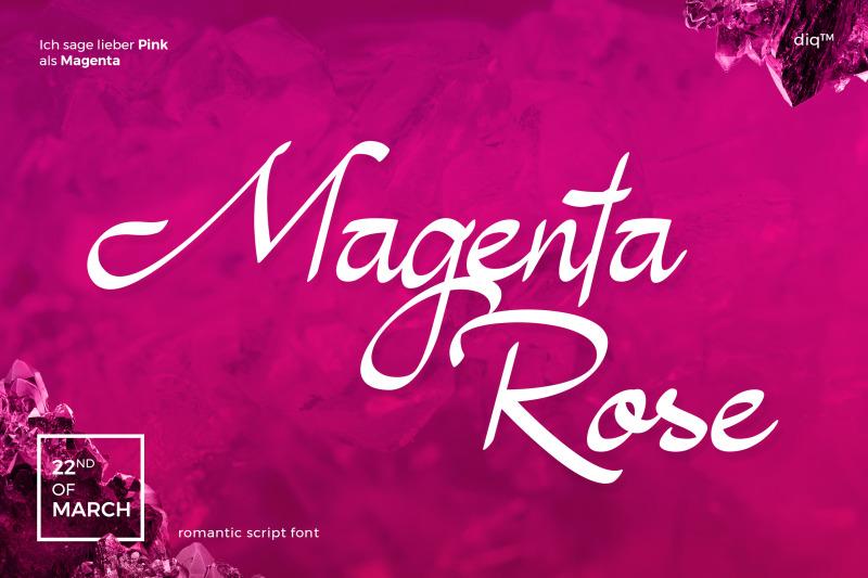 magenta-rose-font