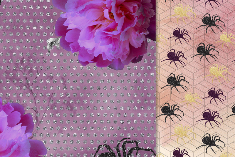 halloween-paper-pack-purple-papers-fall-papers-a4-papers