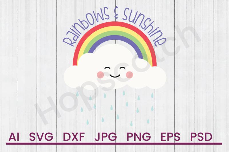 rainbows-amp-sunshine-svg-file-dxf-file